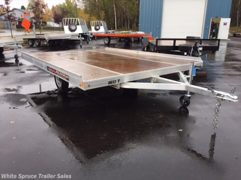 New 2018 Aluma 8.5' X 12' SNOWMACHINE TILT TRAILER For Sale by White Spruce Trailer Sales available in North Pole, Alaska