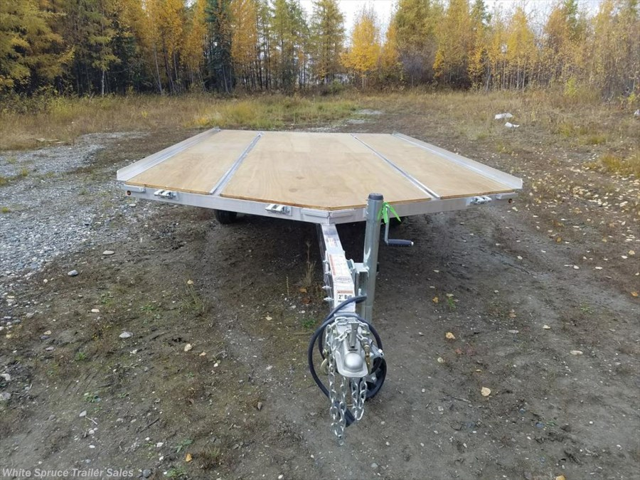 "2018 Mission Trailers 8'6"" X 14' ALL ALUMINUM SPLIT RAMPS"