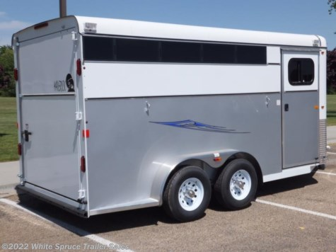 New 2017 Maverick 2 Horse Deluxe (Steel w Alum) For Sale by White Spruce Trailer Sales available in Anchorage, Alaska