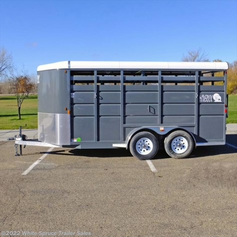 New 2017 Maverick 16' Steel Stock Trailer For Sale by White Spruce Trailer Sales available in Anchorage, Alaska
