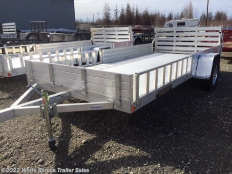 "New 2018 Aluma 81"" X 14' ALL ALUMINUM UTILITY For Sale by White Spruce Trailer Sales available in Anchorage, Alaska"