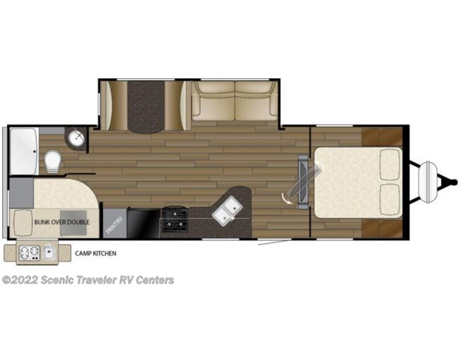 2016 Heartland RV Trail Runner TR 275 ODK floorplan image