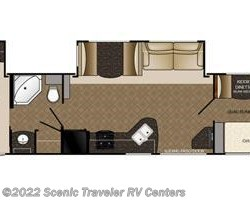 2016 Heartland RV Trail Runner TR 39 QBBH floorplan image