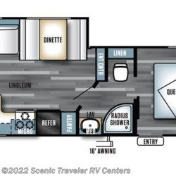 2017 Forest River Salem Cruise Lite 254RLXL floorplan image