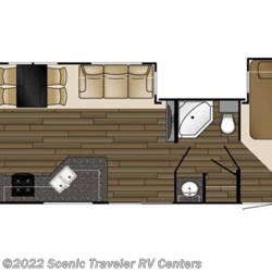 2017 Heartland RV Fairfield FF 403 BH floorplan image