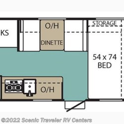 2017 Coachmen Viking 17BH floorplan image