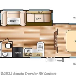 2017 Forest River Salem T30QBSS floorplan image