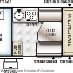 2017 Forest River Flagstaff Hard Side T19QBHW floorplan image