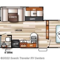 2017 Forest River Salem T30KQBSS floorplan image