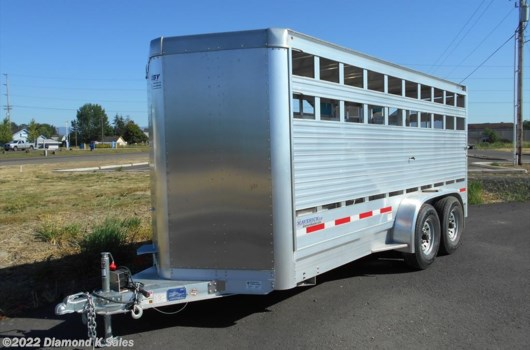 "Livestock Trailer - 2016 EBY Maverick LS BH1MLS 6'6"" X 16' X 6'6"" available New in Halsey, OR"