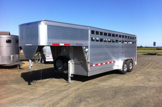 "Livestock Trailer - 2018 EBY Maverick GN1MV 6'11"" X 20' X 6'6"" available New in Halsey, OR"
