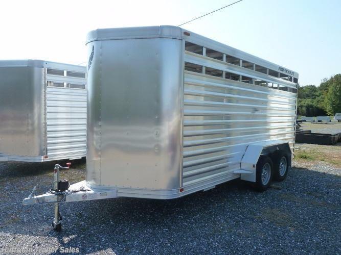 livestock trailer for sale new 2017 featherlite 8107 16 39 bumper pull va livestock trailer. Black Bedroom Furniture Sets. Home Design Ideas