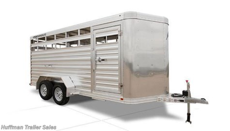 2017 Featherlite  16FT BP Aluminum Stock Trailer