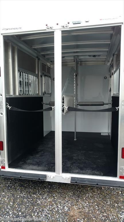 ... featherlite straight load Double rear doors ... & FEATHERLITE - 2018 Featherlite 9407 2 horse straight load for sale ...