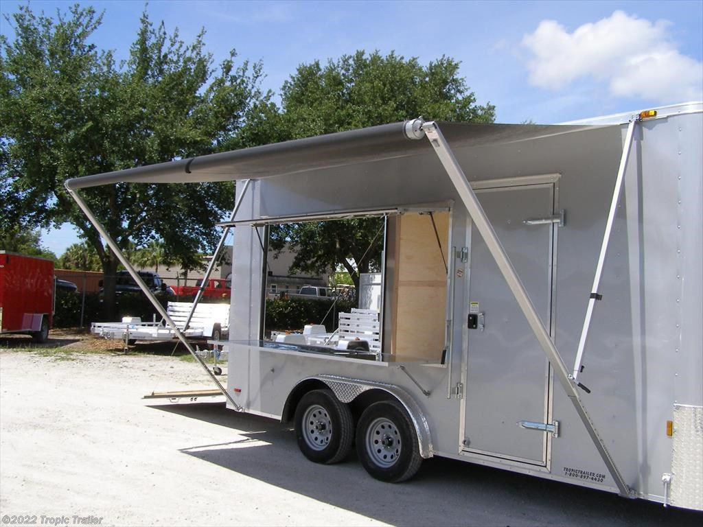 tropic trailer of florida trailers and parts new 2017 continental cargo 8x16 concession vending trailer for by aaa tropic trailer available
