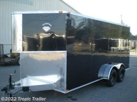 tropic trailer of florida trailers and parts new 2017 diamond cargo 7x16 half v nose enclosed for by aaa tropic