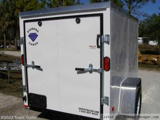 tropic trailer of florida trailers and parts aaa tropic trailer 2017 5x8 single axle cargo trailer by diamond cargo ft
