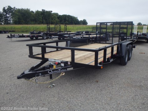 New 2021 Quality Trailers B Tandem 16' For Sale by Bennett Trailer Sales available in Salem, Ohio