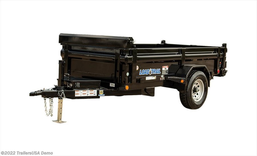 "2017 Load Trail DS05 Single Axle Dump 5,200 Lb w/4"" Channel Frame"