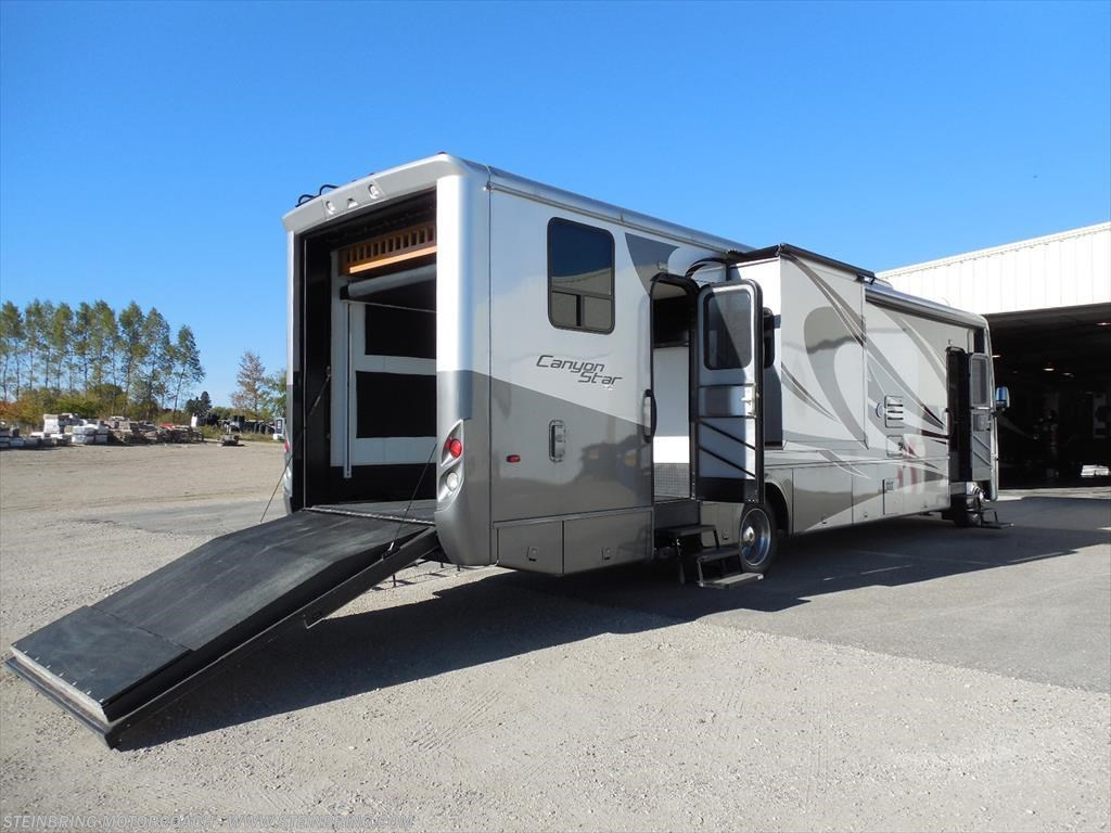 2011 newmar rv canyon star 3920 toy hauler sold for sale for Motor home toy hauler