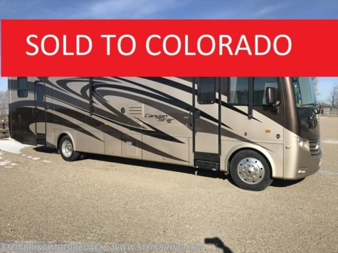 Used 2012 Newmar Canyon Star 3920 TOY HAULER BATH AND A HALF For Sale by Steinbring Motorcoach available in Garfield, Minnesota