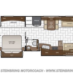 2019 Newmar Mountain Aire 4551 floorplan image