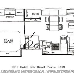2019 Newmar Dutch Star 4369 BATH AND A HALF  - Diesel Pusher New  in Garfield MN For Sale by Steinbring Motorcoach call 877-880-8090 today for more info.