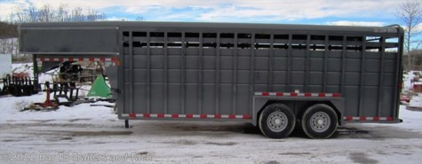 New 2015 Maverick Gooseneck Stock 7x20 HD Stock For Sale by Bar T5 Trailers and Tack available in Millarville, Alberta