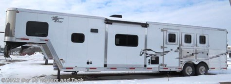 "New 2015 Merhow Aluma Star AS3H15'6""X8 3 horse Gooseneck w/15'6\"" LQ Slide Out For Sale by Bar T5 Trailers and Tack available in Millarville, Alberta"