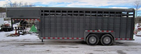 New 2015 Maverick Gooseneck Stock 7x24 HD Stock Gooseneck For Sale by Bar T5 Trailers and Tack available in Millarville, Alberta