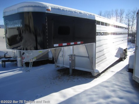 New 2016 Cimarron Lonestar 7' x 24' Stock Gooseneck For Sale by Bar T5 Trailers and Tack available in Millarville, Alberta