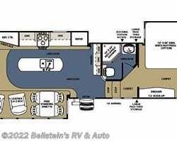 2012 Forest River Sierra 330RL floorplan image