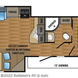 2017 Jayco Jay Flight 29RLDS floorplan image