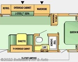 2008 Jayco Jay Flight G2 25 RKS floorplan image