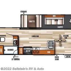 2017 Forest River Salem Villa 39FDEN floorplan image