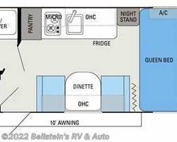 2013 Jayco Jay Flight Swift SLX 185RB floorplan image