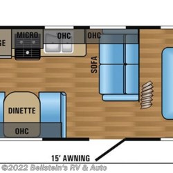 2017 Jayco Jay Flight 23RB floorplan image