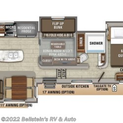 2019 Jayco North Point 377RLBH floorplan image