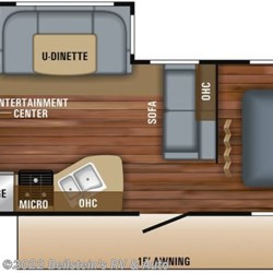 2019 Jayco Jay Flight 24RBS floorplan image