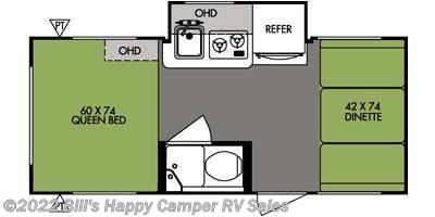 2014 Forest River R-Pod RP-177 floorplan image