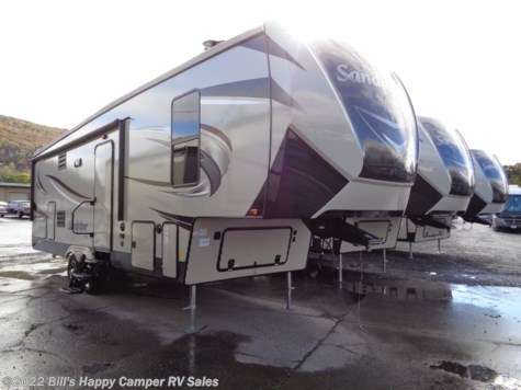New 2019 Forest River Sandpiper 3275DBOK For Sale by Bill's Happy Camper RV Sales available in Mill Hall, Pennsylvania