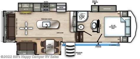 New 2020 Forest River Sandpiper 2990TRIK For Sale by Bill's Happy Camper RV Sales available in Mill Hall, Pennsylvania