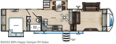 New 2021 Forest River Sandpiper 3550FL For Sale by Bill's Happy Camper RV Sales available in Mill Hall, Pennsylvania