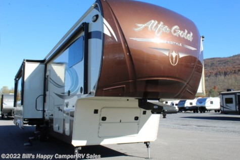 Used 2016 Lifestyle Luxury RV Alfa Gold 3905SH Motorcycle For Sale by Bill's Happy Camper RV Sales available in Mill Hall, Pennsylvania