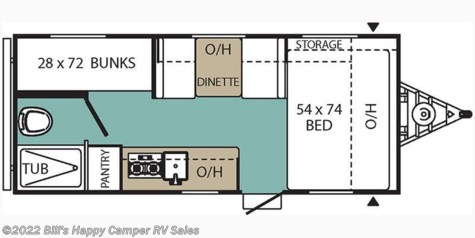 2019 Coachmen Viking 17BH floorplan image