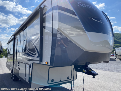New 2021 Forest River Sandpiper 321RL For Sale by Bill's Happy Camper RV Sales available in Mill Hall, Pennsylvania