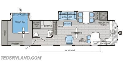 2016 Jayco Jay Flight Bungalow 40FKDS floorplan image