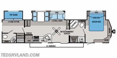 2013 Jayco Jay Flight DST 40BHTS floorplan image