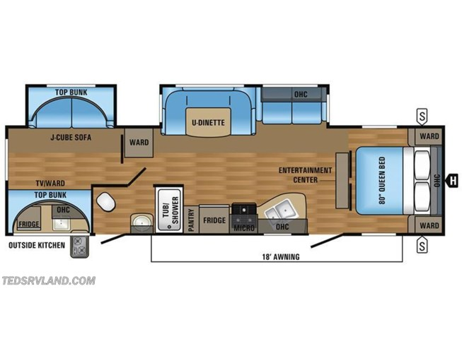 2017 Jayco Jay Flight 32BHDS floorplan image