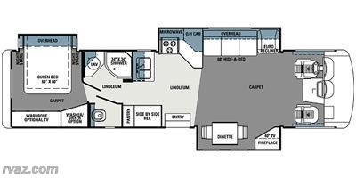2013 Forest River Georgetown XL 378TS floorplan image